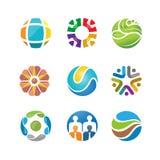 Καλύτερο αφηρημένο σύνολο λογότυπων κύκλων Στοκ Φωτογραφία