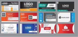 καλύτερο επαγγελματικών καρτών αρχικό διάνυσμα προτύπων τυπωμένων υλών έτοιμο απεικόνιση αποθεμάτων