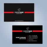 καλύτερο επαγγελματικών καρτών αρχικό διάνυσμα προτύπων τυπωμένων υλών έτοιμο μαύρο κόκκινο Στοκ Εικόνες