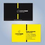καλύτερο επαγγελματικών καρτών αρχικό διάνυσμα προτύπων τυπωμένων υλών έτοιμο Κίτρινος και μαύρος Στοκ εικόνα με δικαίωμα ελεύθερης χρήσης