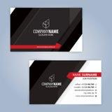 καλύτερο επαγγελματικών καρτών αρχικό διάνυσμα προτύπων τυπωμένων υλών έτοιμο μαύρο κόκκινο Στοκ εικόνες με δικαίωμα ελεύθερης χρήσης