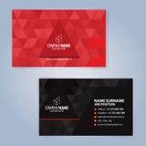 καλύτερο επαγγελματικών καρτών αρχικό διάνυσμα προτύπων τυπωμένων υλών έτοιμο μαύρο κόκκινο Στοκ Φωτογραφίες