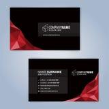 καλύτερο επαγγελματικών καρτών αρχικό διάνυσμα προτύπων τυπωμένων υλών έτοιμο μαύρο κόκκινο Στοκ φωτογραφία με δικαίωμα ελεύθερης χρήσης