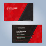 καλύτερο επαγγελματικών καρτών αρχικό διάνυσμα προτύπων τυπωμένων υλών έτοιμο μαύρο κόκκινο Στοκ Φωτογραφία