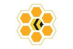 Καλύτερο λογότυπο κυψελών μελισσών Στοκ Εικόνες