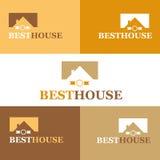 καλύτερο σπίτι εμπορικών σημάτων πραγματικό σύνθημα μηνυμάτων λογότυπων κτημάτων το ελεύθερο χωρίζει κατά διαστήματα το σας επίση Στοκ Εικόνα