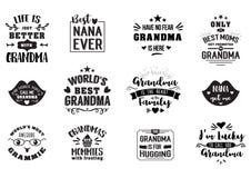 Καλύτερο grandma χειρόγραφο στο Μαύρο Στοκ Εικόνα