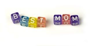 Καλύτερο mom φράσης Στοκ φωτογραφία με δικαίωμα ελεύθερης χρήσης