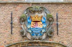 Καλύψεις των όπλων της ολλανδικής επαρχίας Zeeland Στοκ φωτογραφία με δικαίωμα ελεύθερης χρήσης