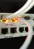 Καλώδια δικτύων που συνδέονται με την πλήμνη Στοκ φωτογραφία με δικαίωμα ελεύθερης χρήσης