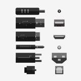 Καλώδια στο διαφορετικό τύπο Στοκ φωτογραφία με δικαίωμα ελεύθερης χρήσης