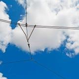 Καλώδια τραμ Στοκ φωτογραφία με δικαίωμα ελεύθερης χρήσης