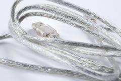 Καλώδιο συνδετήρων USB Στοκ φωτογραφία με δικαίωμα ελεύθερης χρήσης