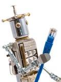 Καλώδιο του τοπικού LAN εκμετάλλευσης ρομπότ Steampunk Στοκ Εικόνα