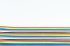 Καλώδιο χρώματος στο άσπρο υπόβαθρο Στοκ Φωτογραφία