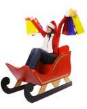 Κα Claus με τις τσάντες αγορών Στοκ Εικόνες