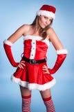 Κα Claus Costume Woman στοκ φωτογραφία