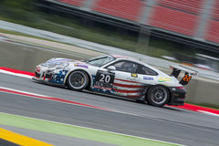 ΚΑ GT-συναγωνιμένος ομάδα Porsche 991 24 ώρες της Βαρκελώνης Στοκ Φωτογραφίες