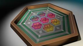 Κβαντικός υπολογιστής Στοκ φωτογραφία με δικαίωμα ελεύθερης χρήσης