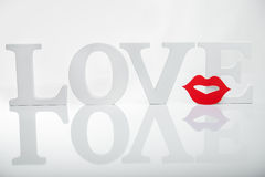 Κείμενο λέξεων αγάπης Στοκ φωτογραφίες με δικαίωμα ελεύθερης χρήσης