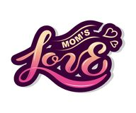 Κείμενο αγάπης Mom ` s που απομονώνεται στο υπόβαθρο απεικόνιση αποθεμάτων