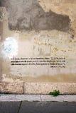κείμενο γκράφιτι Βίβλων Στοκ Φωτογραφίες