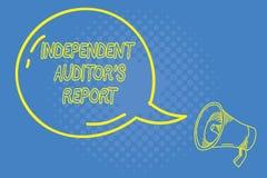 Κείμενο γραφής που γράφει την ανεξάρτητη έκθεση IS ελεγκτών s Η έννοια έννοιας αναλύει τη λογιστική και τις οικονομικές πρακτικές διανυσματική απεικόνιση