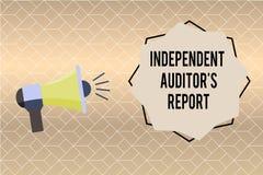 Κείμενο γραφής που γράφει την ανεξάρτητη έκθεση IS ελεγκτών s Η έννοια έννοιας αναλύει τη λογιστική και τις οικονομικές πρακτικές απεικόνιση αποθεμάτων