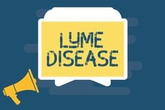 Κείμενο γραφής που γράφει την ασθένεια Lyme Έννοια που σημαίνει τη μορφή αρθρίτιδας που προκαλείται από τα βακτηρίδια που διαδίδο ελεύθερη απεικόνιση δικαιώματος