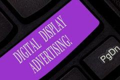 Κείμενο γραφής που γράφει τη διαφήμιση ψηφιακής επίδειξης Η έννοια έννοιας μεταβιβάζει ένα εμπορικό μήνυμα χρησιμοποιώντας τη γρα στοκ φωτογραφίες με δικαίωμα ελεύθερης χρήσης