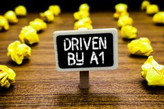 Κείμενο γραφής Drive από το Α1 Η κίνηση έννοιας έννοιας ή ελεγχόμενος από έναν οδηγό κορυφαίας ποιότητας στον πίνακα κοινωνίας τσ στοκ φωτογραφίες με δικαίωμα ελεύθερης χρήσης