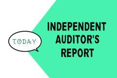 Κείμενο γραψίματος λέξης ανεξάρτητη έκθεση IS ελεγκτών s Η επιχειρησιακή έννοια για αναλύει τη λογιστική και τις οικονομικές πρακ απεικόνιση αποθεμάτων