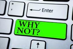 Κείμενο γραψίματος λέξης γιατί όχι ερώτηση Η επιχειρησιακή έννοια για Give εγώ ένας λόγος για κάτι δεν λέει καμία έννοια για Info στοκ εικόνες