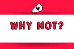 Κείμενο γραψίματος λέξης γιατί όχι ερώτηση Η επιχειρησιακή έννοια για κάνει την πρόταση ή για να εκφράσει η έκφραση του θυμού διανυσματική απεικόνιση