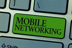 Κείμενο γραψίματος λέξης κινητή δικτύωση Επιχειρησιακή έννοια για το δίκτυο επικοινωνίας όπου ο τελευταίος κρίκος είναι ασύρματος στοκ φωτογραφία με δικαίωμα ελεύθερης χρήσης