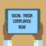 Κείμενο γραψίματος λέξης κοινωνικός κίνδυνος συμμόρφωσης μέσων Επιχειρησιακή έννοια για το analysisagement κινδύνων στο διαδίκτυο απεικόνιση αποθεμάτων