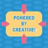 Κείμενο γραψίματος λέξης που τροφοδοτείται από δημιουργικό Επιχειρησιακή έννοια για χαρακτηρισμένος από την πρωτοτυπία της σκέψης ελεύθερη απεικόνιση δικαιώματος