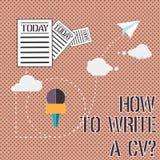 Κείμενο γραψίματος λέξης πώς να γράψει το βιογραφικό σημείωμα Α Επιχειρησιακή έννοια για τις συστάσεις για να κάνουν ένα αγαθό να απεικόνιση αποθεμάτων