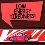 Κείμενο γραψίματος λέξης χαμηλή ενεργειακή κούραση Επιχειρησιακή έννοια για το υποκειμενικό συναίσθημα της κούρασης που έχει το β απεικόνιση αποθεμάτων