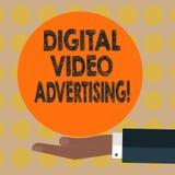 Κείμενο γραψίματος λέξης ψηφιακή τηλεοπτική διαφήμιση Η επιχειρησιακή έννοια για Engage το ακροατήριο υπό μορφή τηλεοπτικής ικανο στοκ εικόνες