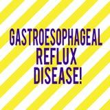 Κείμενο γραψίματος λέξης Gastroesophageal Reflux ασθένεια Επιχειρησιακή έννοια για τη χωνευτική διαγώνιος θωρακικού πόνου αναταρα ελεύθερη απεικόνιση δικαιώματος