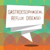 Κείμενο γραψίματος λέξης Gastroesophageal Reflux ασθένεια Επιχειρησιακή έννοια το χωνευτικό θωρακικό πόνο καψίματος αναταραχής πο ελεύθερη απεικόνιση δικαιώματος