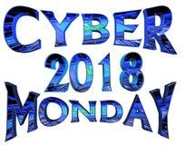 Κείμενο Δευτέρας 2018 Cyber στο άσπρο υπόβαθρο Στοκ φωτογραφίες με δικαίωμα ελεύθερης χρήσης