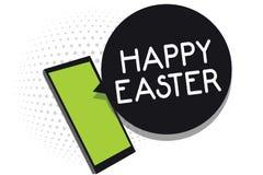 Κείμενο ευτυχές Πάσχα γραφής Έννοια που σημαίνει τη χριστιανική γιορτή που τιμά την μνήμη της αναζοωγόνησης του τηλεφώνου του Ιησ απεικόνιση αποθεμάτων