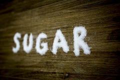 Κείμενο 3 ζάχαρης Στοκ Εικόνα