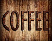 κείμενο καφέ Στοκ Εικόνες