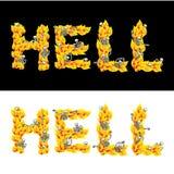 Κείμενο κόλασης Επιστολές πυρκαγιάς Σκελετοί στην κόλαση Αμαρτωλοί σε Gehenn απεικόνιση αποθεμάτων