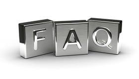 Κείμενο μετάλλων FAQ Στοκ Φωτογραφία