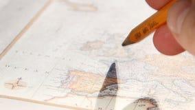 Κείμενο μελέτης και ταξιδιού Χάρτης 1775 του Thomas Jefferys απόθεμα βίντεο
