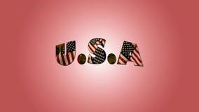 Κείμενο 4ο του Ιουλίου και της αμερικανικής σημαίας διανυσματική απεικόνιση